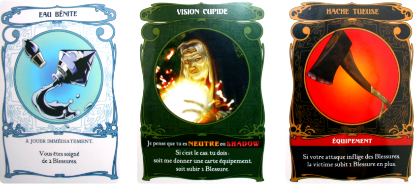 shadow hunters cards : hunter, vision and shadow